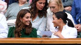 Kate Middleton y Meghan Markle en Wimbledon. / Laurence Griffiths/Getty Images